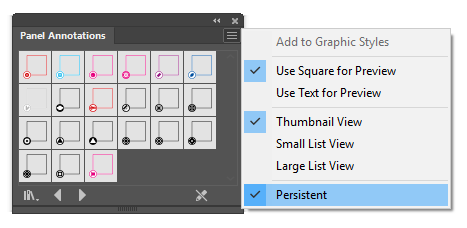 An example of an Illustrator library panel
